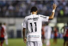 Neymar comemora golaço contra Flamengo-PI (Ricardo Saibun / Santosfc.com.br)