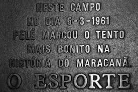 Placa em homenagem ao gol de Pelé contra o Fluminense, em 1961