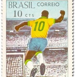 Selo comemorativo do milésimo gol de Pelé