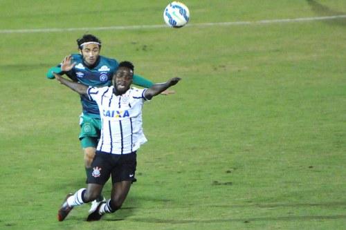 O lateral Apodi, em jogo contra o Corinthians (Chapecoense/Flickr)