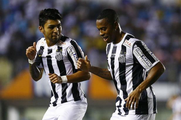 Robinho é peça-chave do Santos no campeonato brasileiro (Ricardo Saibun / Santos)