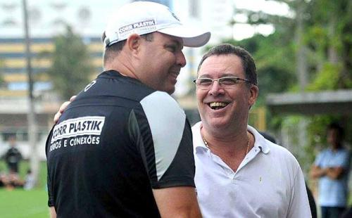 Marcelo Teixeira, padrinho político de Modesto Roma, com Marcelo Fernandes (Foto: Ivan Storti)