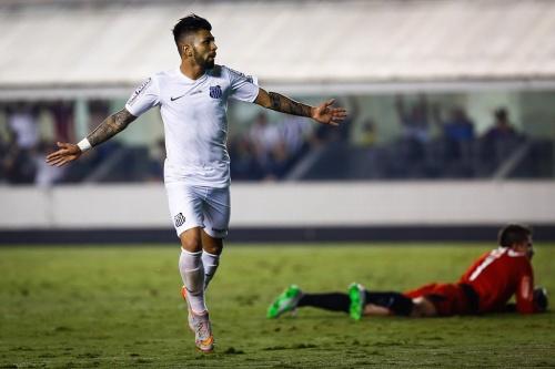 Gabriel, o menino da Vila, santista, foi muito cruel contra o Galo (Ricardo Saibun/Santos FC)